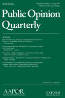Public Opinion Quarterly